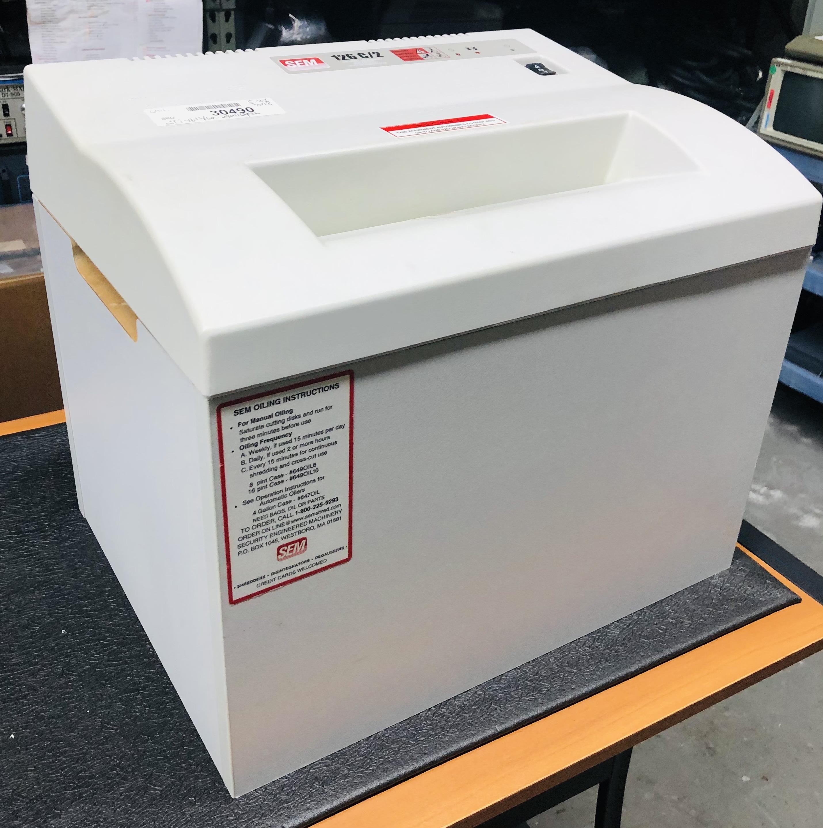 SEM 126C/2 Paper Shredder